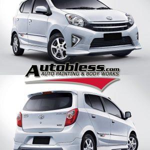 Bodykit Toyota Agya TRD – Plastic PP ORI