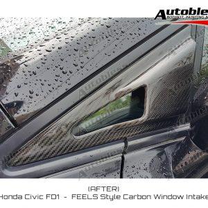 Window Intake FEELS Honda Civic FD – Carbon