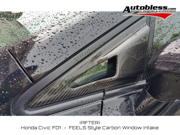 Window Intake FEELS Honda Civic FD – Carbon