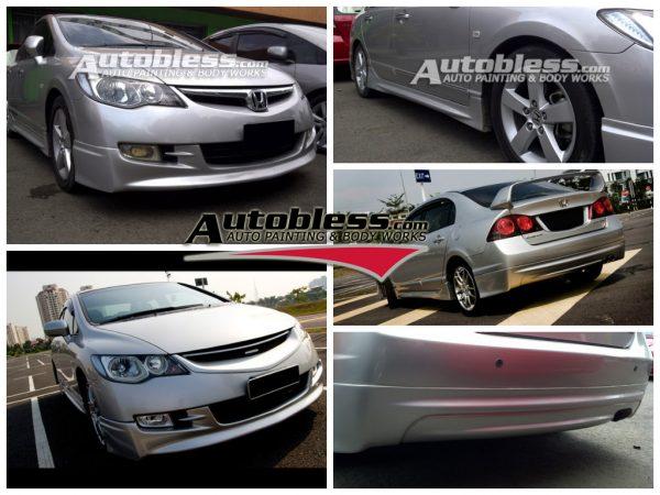 Bodykit Honda Civic Mugen 2006-2009 – Plastic ABS (Grade C)