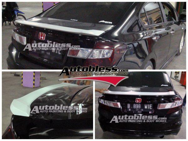 Ducktail Honda Civic FB Modulo 2013 – Plastik ABS (Grade S) Import Taiwan
