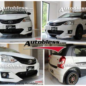 Bodykit Toyota Etios Valco – Plastic ABS (Grade B)