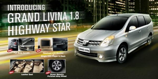 Bodykit Nissan All New Grand Livina Highwaystar 2008 – Plastic ABS (Grade C)