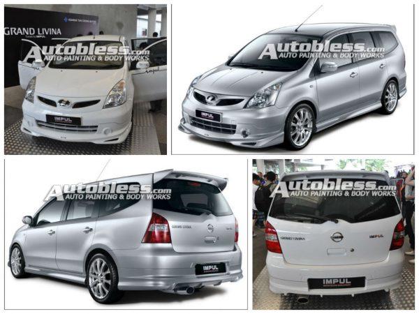 Bodykit Nissan All New Grand Livina Impul2 2008 – Plastic ABS (Grade B)