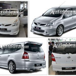 Grille Nissan Grand Livina Impul2 2008 – Plastic ABS (Grade B)