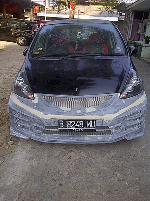 Bodykit Honda Jazz Mugen RS 2011 Adaptasi 2005 – FRP