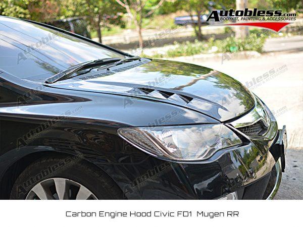 Kap Mesin Carbon Honda Civic FD 2006-2011 – Model Mugen RR