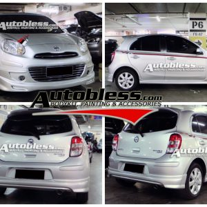 Bodykit Nissan March RX – Plastic ABS (Grade C)