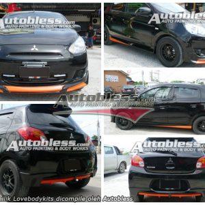 Bodykit Mitsubishi Mirage Access – Plastic ABS (Grade B)