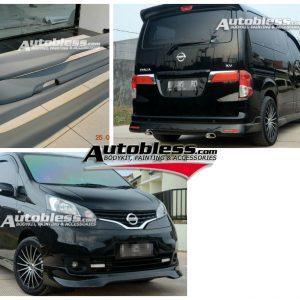 Bodykit Nissan Evalia – Plastic ABS (Grade C)