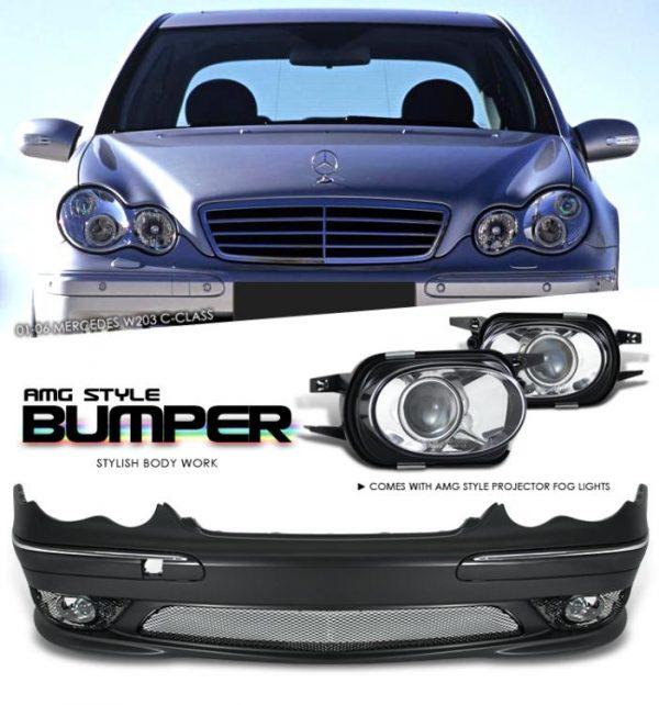Bodykit M-Benz W203 – Plastic PP (Grade S) Import Taiwan