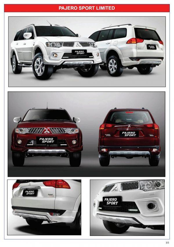 Bodykit Mitsubishi Pajero Sport Limited 2013 – Plastic ABS (Grade A)