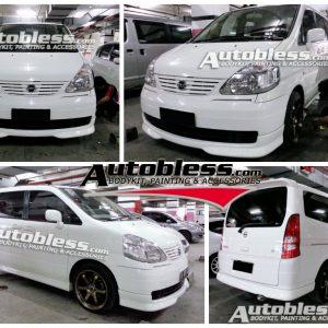 Bodykit Nissan Serena HWS 2004-2012 – Plastic ABS (Grade C)