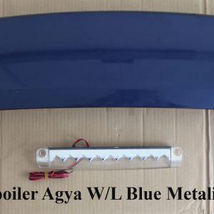 Wing Spoiler Toyota Agya + Lamp – Plastik ABS (Grade A)