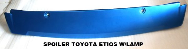Wing Spoiler Toyota Etios + Lamp – Plastik ABS (Grade A)