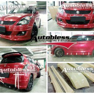Bodykit Suzuki Swift X-ite 2011 – Plastic ABS (Grade B)
