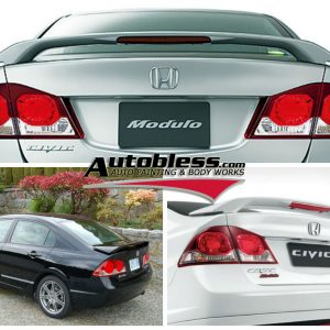 Wing Spoiler Honda Civic FD1 Modulo + Lamp – Plastic ABS (Grade S) Import Taiwan
