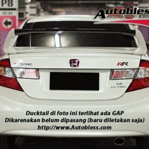 Wing Spoiler Honda Civic FB 2013 Mugen RR – Plastik ABS (Grade S) Import Taiwan