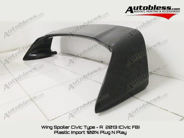 Wing Spoiler Honda Civic FB 2013 Type R – Plastik ABS (Grade S) Import Taiwan
