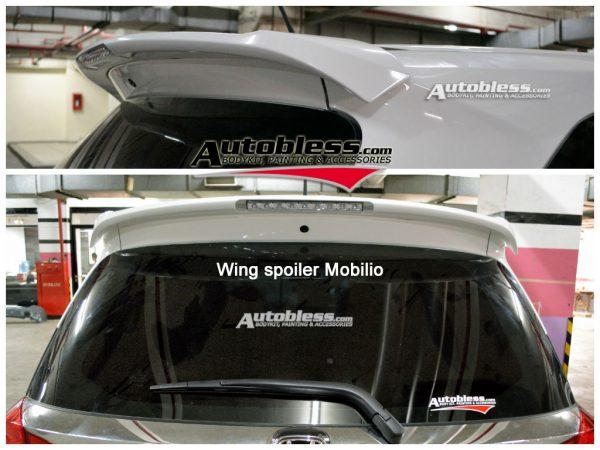 Wing Spoiler Honda Mobilio + Lamp – Plastik ABS (Grade A)