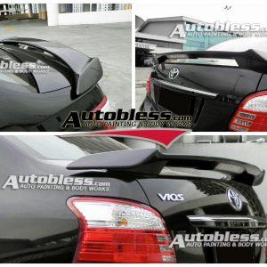 Wing Spoiler Toyota Vios TRD + Lamp – FRP