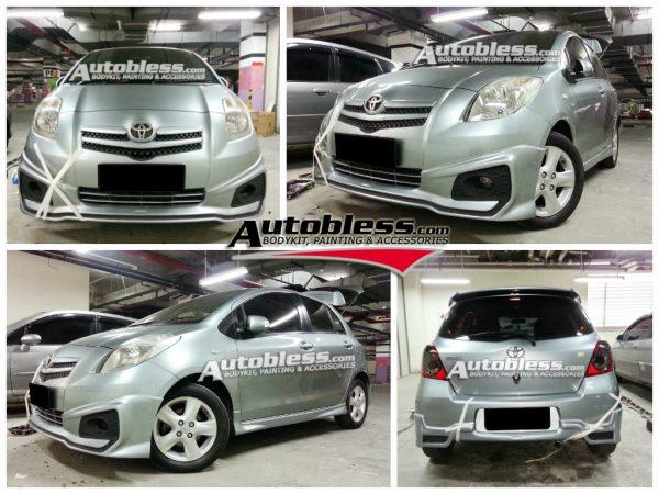 Bodykit Toyota Yaris TRD 2012 (untuk 2006-2007) – Plastic ABS (Grade C)